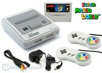 Nintendo SNES - Konsole + Super Mario World + 2 Controller + Zub.