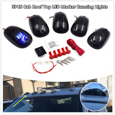 5×Blue LED Cab Roof Top Marker Running Clearance Lights For Truck SUV Pickup 4x4