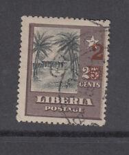 Liberia # 138 USED CP.20 Registration Cancel 1915-16 Surcharge Native Hut
