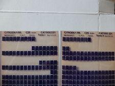 n°h306 lot  2 microfiche d'epoque citroen c25 n°221