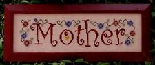 MOTHER CROSS STITCH SAMPLER- TURQUOISE GRAPHICS