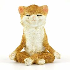 Yoga Cat in Meditation Lotus Pose Miniature (4410) NEW 3.75 Inches High
