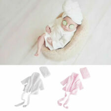 Baby Newborn Soft Flannel Bathrobes Dress Wrap Photography Photo Prop Bath Towel