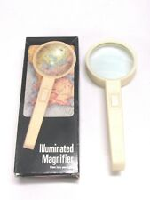 NOS! VINTAGE EAGLE ILLUMINATED GLASS MAGNIFIER / MAGNIFYING GLASS LOUPE, 2-5/8""
