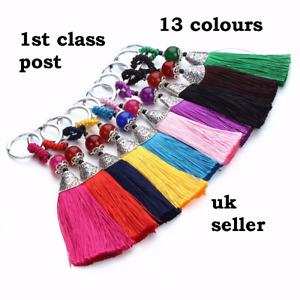 Bohemian Tassel hand Bag Charm Accessory Key ring gift UK seller