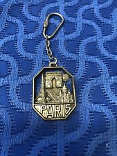 Vintage Paris France Mirel Eiffel Tower Metal Keychain Made in France
