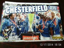 chesterfield team group johnstone's paint trophy winners 2012