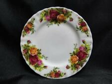 """Royal Albert Old Country Roses, England, Yellow, Red: Bread Plate 6.25"""", As Is"""