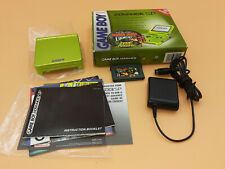 Nintendo Game Boy Advance SP Lime Green Complete Box **VERY GOOD** GBA