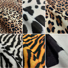 Animal Skins Digital Print Cotton Rich Linen Fabric Craft Curtaining Upholstery