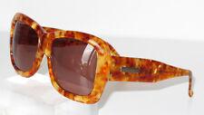 Charles Jourdan Sunglasses Vintage Faux Tortoise Acetate Frame Brown Lenses