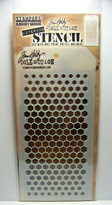 New! Gradient Hex Design Stencil Stampers Anonymous Tim Holtz Collection THS117