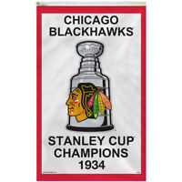 Chicago Blackhawks 1934 Stanley Cup Rafter Banner and Banner