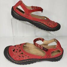 Jambu JBU Size 9 Mary Jane Wildflower Red Vegan Leather Perforated Comfort