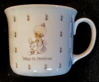 Precious Moments Mug Baby's 1st Christmas China Cup Enesco 1987 Samuel J Butcher