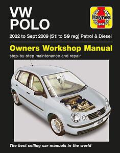 VW Polo Petrol & Diesel (02 - Sept 09) Haynes Repair Manual