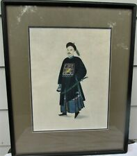 BEAUTIFUL ANTIQUE CHINESE GOUACHE  PAINTING 19TH CENTURY COURT OFFICIAL