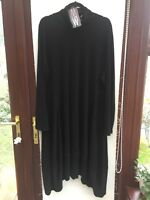 MarlaWynne Luxe Crepe Turtle Neck Balloon Dress BLACK Size 2XL BNWTs