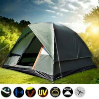 3-4 Person Camping Tent - 4 Season Double Waterproof UV Family Backpacking Tent