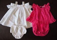 Ralph Lauren Baby Girl Lot Eyelet Dress & Romper Pink White -- 6 Months -- $130