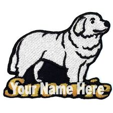 Great Pyrenees Dog Custom Iron-on Patch Personalized
