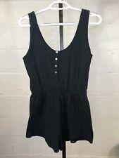 American Apparel Black Romper Size S Cotton Sleeveless #T14