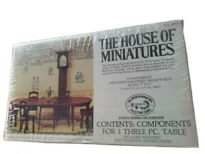 The House of Miniatures #40006 Hepplewhite 3 Piece Dining Room Table Circa 1800