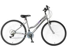 "Ladies Mountain Bike Rise 26"" Wheel 19"" Frame Womens Grey Purple 21 Speed"