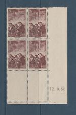 timbre France bloc de 4 coin daté  les mineurs   num: 390  **