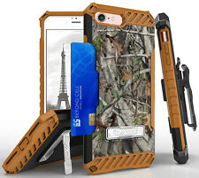 AUTUMN CAMO WOODS TREE STAND CASE + BELT CLIP HOLSTER + STRAP FOR APPLE iPHONE 7