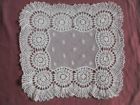 #1169 Beautiful Vintage Hand Made Tablecloth 36cm/36cm(14''x14'')