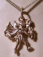 Sterling Silver Pixie/Demon Pendant on 18 inch Sterling Silver Chain