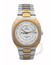 Omega Seamaster Polaris GMT Vintage anni '80 quarzo acciaio oro Ref. 50381547
