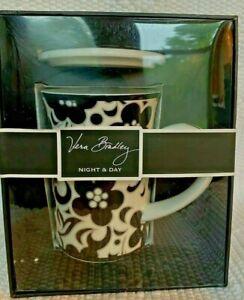 VERA BRADLEY COFFEE TEA MUG cup NIGHT & DAY NIB Andrea by Sadek Barnes & Noble🎁