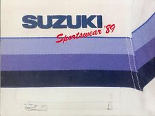 Suzuki Sportswear 1989 Prospekt Mode Motorradfahrer Broschüre Motorradprospekt