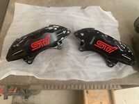 08-17 Subaru WRX STI Front LH And RH Brembo Calipers (BLACK)