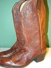 1980's Brown Leather Western Style Boots By Dan Post Size 9B Used-Good