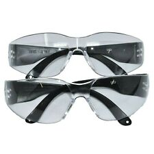 PAIR OF SAFETY GLASSES ANTI SCRATCH CLEAR LENS PPE EYEWEAR ONE SIZE