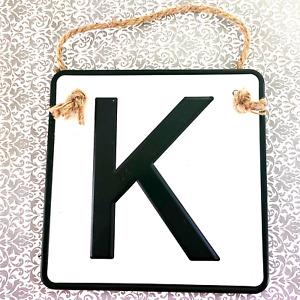 NWOT Unbranded Monogram sign letter K Rope black white 689.3