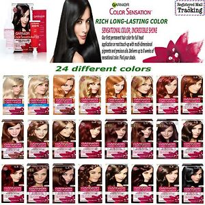 GARNIER COLOR SENSATION, HAIR COLOR DYE - RICH LONG-LASTING, 24 DIFFERENT COLOR