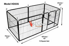 Heavy Duty Puppy Play Pen 6 Panel Enclosure Welping Pen Playpen Dog HD03S