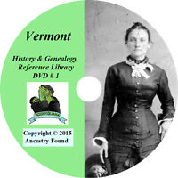 170 old books - VERMONT History & Genealogy on DVD, Ancestry, Family Tree, CD