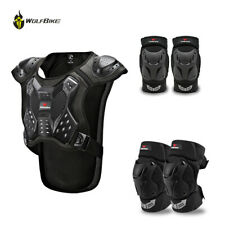 Adult Motorcycle Vest Racing Chest Protector Off-Road Protective Knee Elbow Pads