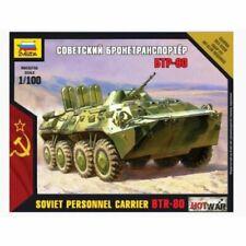 Zvezda 1/100 scale Soviet Personnel Carrier BTR-80