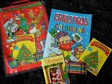 Kids 4 Piece Christmas Activity Pack - Stickers and Colouring Book