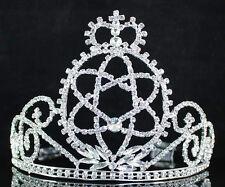 UK Plata Plateado Cristal Claro//Diamante Estrella fugaz Flor Boda Peine de Cabello