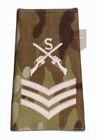Pair SGT IVORY on MULTICAM MTP Sniper Rank Slides (Crossed Rifles