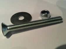 70mm M8 bolts for unwin track countersunk with locking nuts washer van seats x25