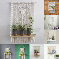 Woven Tapestry Bohemian Tassel Macrame Wall Hanging Ornament Home Art Decor Room