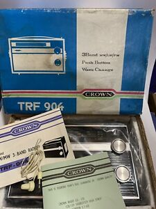 VINTAGE CROWN 3-BAND Radio From 1960s-1970s Rare New